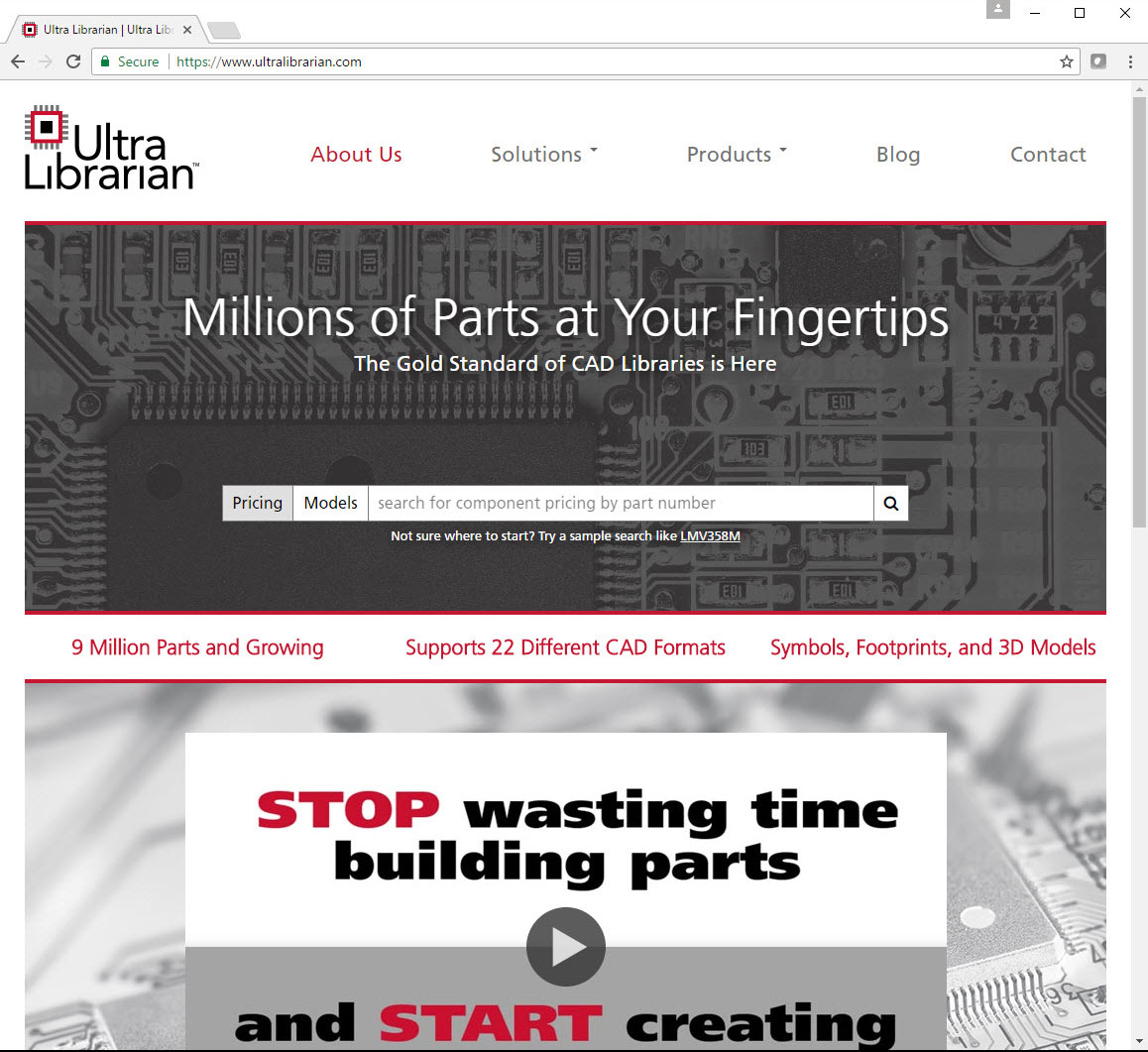 New ultra librarian website provides easy access to ecadmcad with the creation of ultralibrarian engineers now have a centralized online component repository for part search and model download said manny biocorpaavc Choice Image